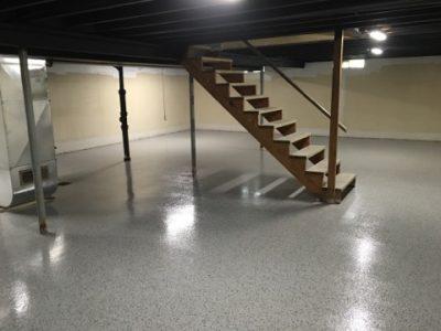 Liquid Terrazzo Basement Remodel